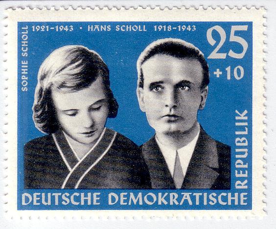 Geschwister_Scholl_stamp_GDR_1961